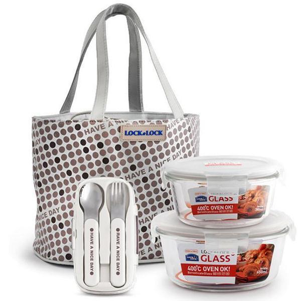 乐扣乐扣耐热玻璃保鲜盒享乐提袋套装LLG901FU