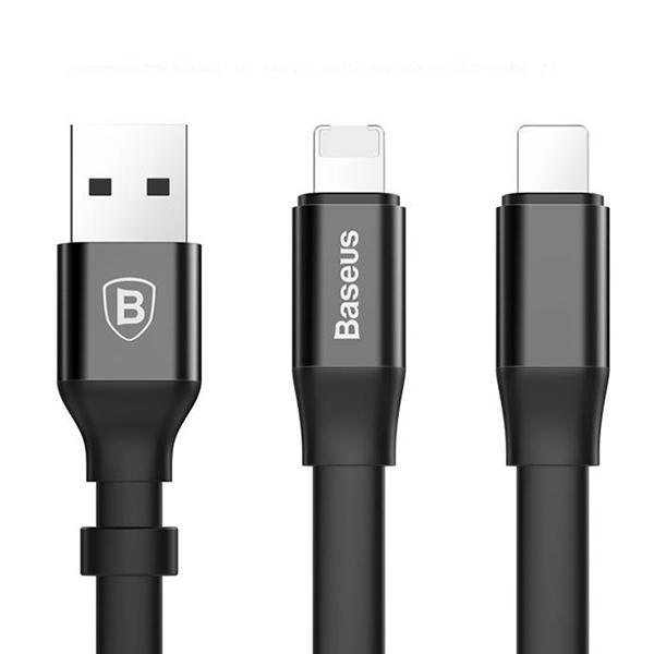 倍思(Baseus)简捷二合一便携款数据线(安卓/苹果)发货为23厘米款