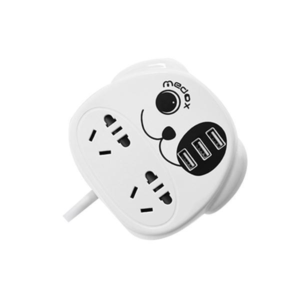 麦逗卡通小狗插排多功能usb电源插座