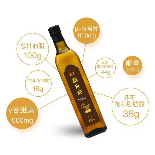 苏垦稻米油 750ml玻璃瓶装