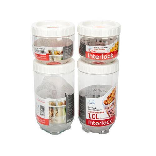 乐扣乐扣塑料保鲜盒厨房用品储物罐四件套