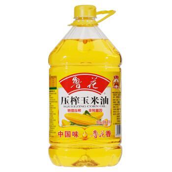 鲁花物理压榨玉米油5L