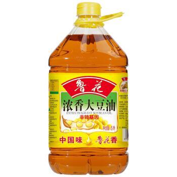 鲁花浓香食用油  大豆油5L
