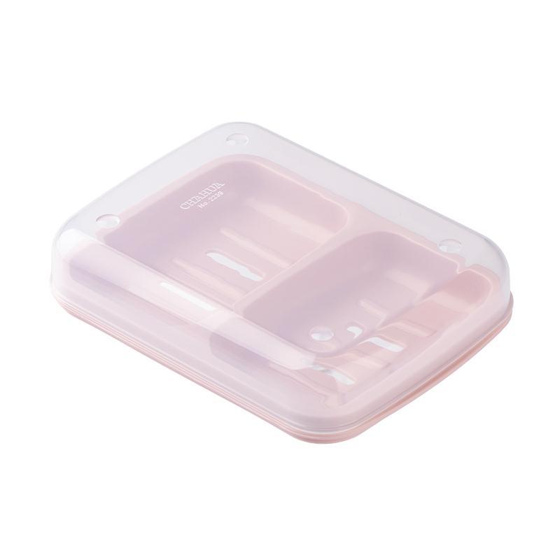 茶花 CHAHUA 双格沥水肥皂盒 2239(蓝色)