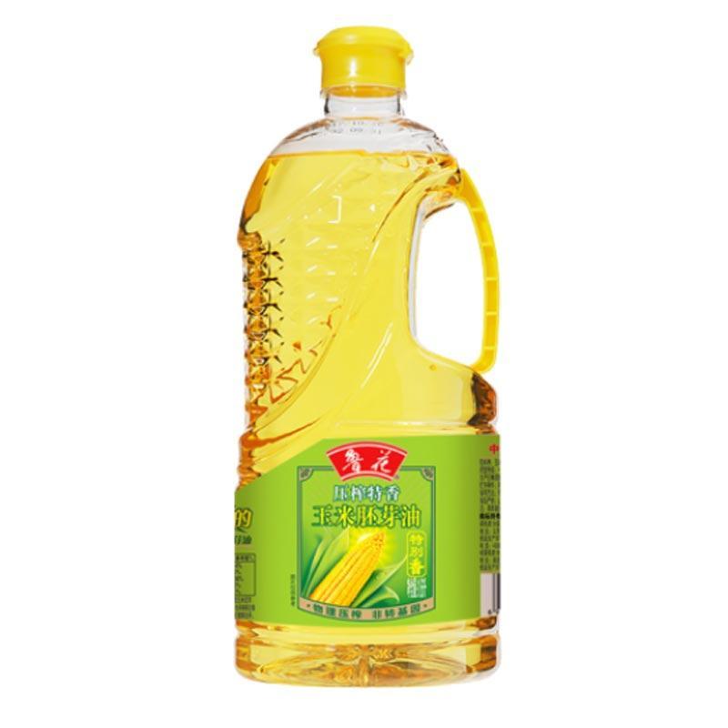 鲁花物理压榨玉米油胚芽油1.6L